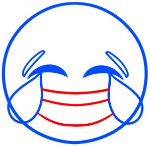 Как рисовать смеющийся смайлик